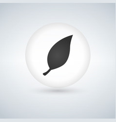 leaf sign icon in circle fresh natural product vector image