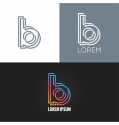 Letter B logo alphabet design icon set background vector