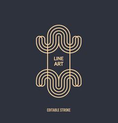 line art design for invitation poster badge vector image
