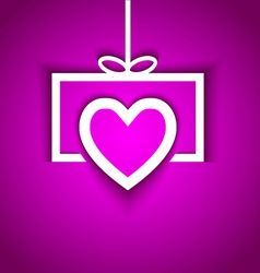 love gift with shadow effect vector image