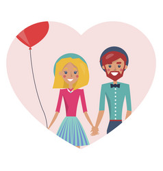 man and woman in love poster vector image
