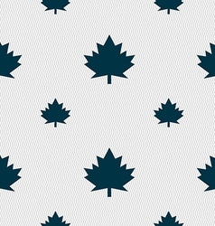 Maple leaf icon Seamless pattern with geometric vector