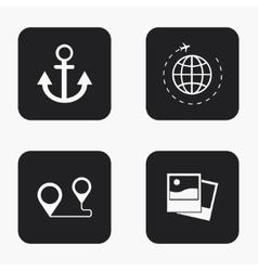modern travel icons set vector image