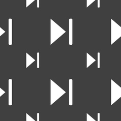 Next track icon sign Seamless pattern on a gray vector