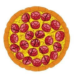 Pepperoni Pizza Slices vector image