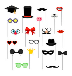 photo booth accessories vector image