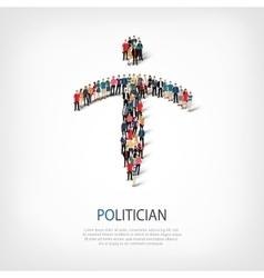 politician people crowd vector image