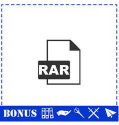 rar icon flat vector image