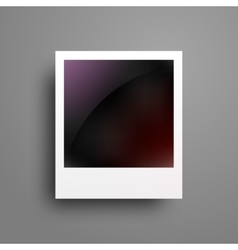 Realistic photo frame on geadient background vector image