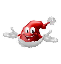 red santa claus hat mascot vector image