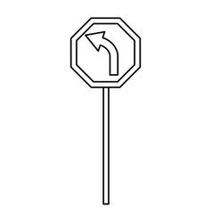 Road traffic signal with arrow information icon vector