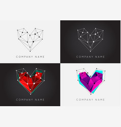 set geometric shapes unusual and abstract logo vector image