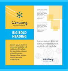 share idea company brochure title page design vector image
