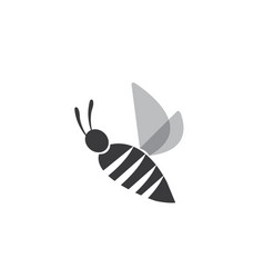 simple bee open wings and fly for logo design vector image