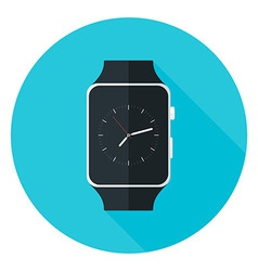 Smart Watch Flat Circle Icon vector