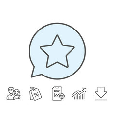 Star line icon best rank sign vector