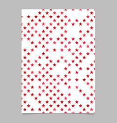 Star pattern brochure design - document background vector