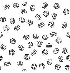sweet dessert theme seamless seamless pattern vector image