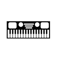Synthesizer electronic instrument keyboard musical vector