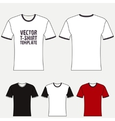 T-shirt blank design template vector image