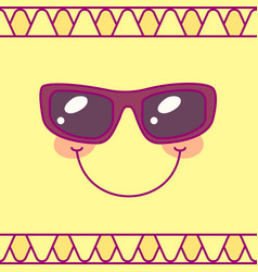 tableware template cute sun vector image