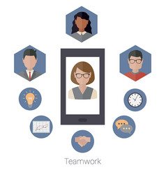 Teamwork concept with people teamwork concept vector