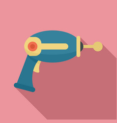 Toy blaster icon flat style vector