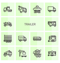 trailer icons vector image