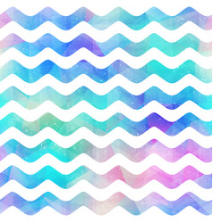 watercolor wave seamless pattern vector image