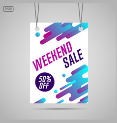 Weekend sale background vector