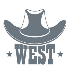 West logo vintage style vector