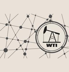 Wti crude oil presentation banner vector