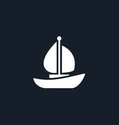 Yacht icon simple vector