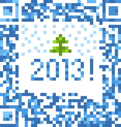 Abstract christmas background of qr-code vector image