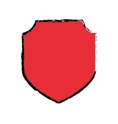 Badge shield emblem vector image vector image