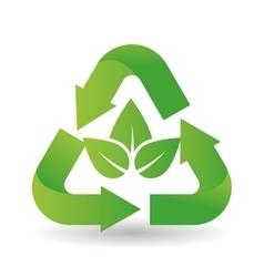 Eco leaf design vector