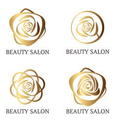 Flower logo set for beauty salon beauty shop spa vector