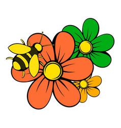 flowers icon icon cartoon vector image