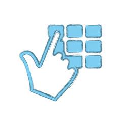 Keypad pointer hand vector