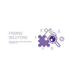 Finding solutions web banner with copy space vector