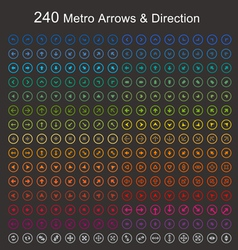 Full color Metro arrows and direction vector image vector image