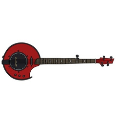 Red electric banjo vector image