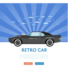 website design with classic muscle car vector image vector image