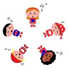 winter cartoon kids vector image