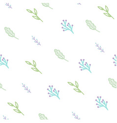 cute branches seamless pattern vector image vector image