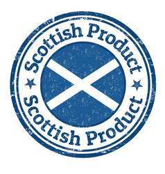 scottish product grunge rubber stamp vector image