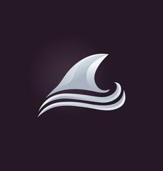 Shark icon vector image vector image