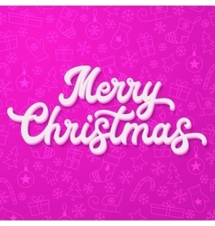 White 3d lettering on purple christmas background vector