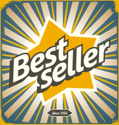 Bestseller retro tin sign design vector image vector image
