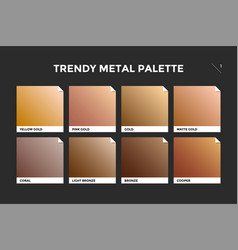 gold copper and bronze gradient template vector image vector image